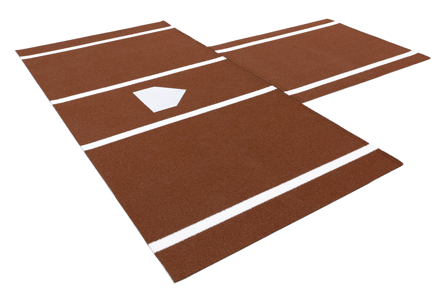 Standard Batting Mat With Catcher's Extension